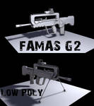 FAMAS G2 Low Poly WIP