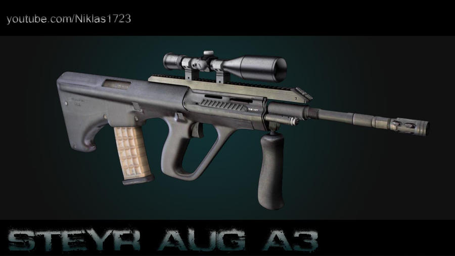 steyr aug a3. Steyr Aug A3 Textured by ~Artificialproduction on deviantART