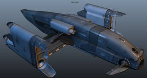 Spacecraft Bomber Texture WIP by Artificialproduction