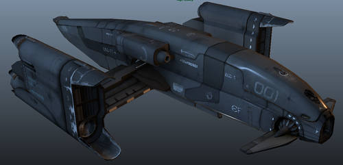Spacecraft Bomber 2 by Artificialproduction