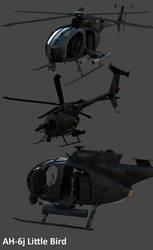 AH-6j Little Bird by Artificialproduction