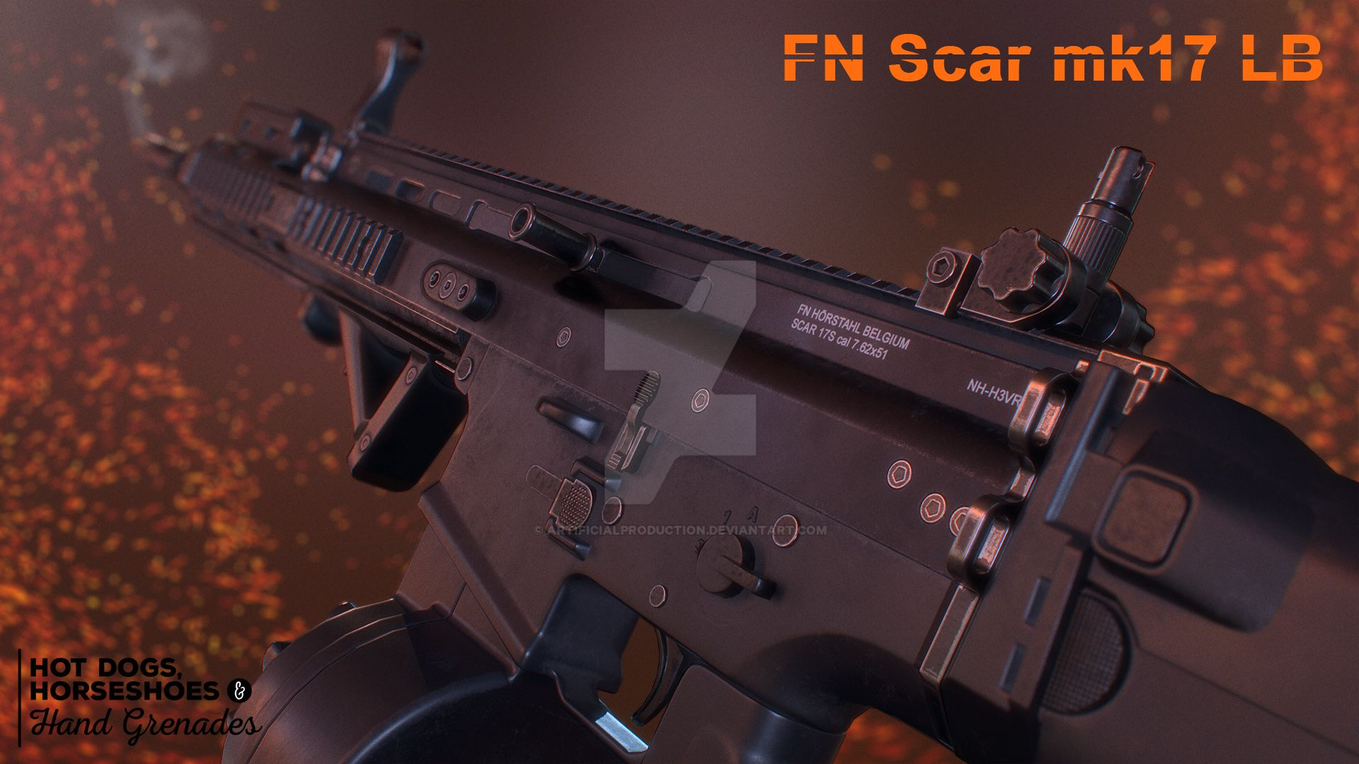 FN Scar mk17 LB by Artificialproduction