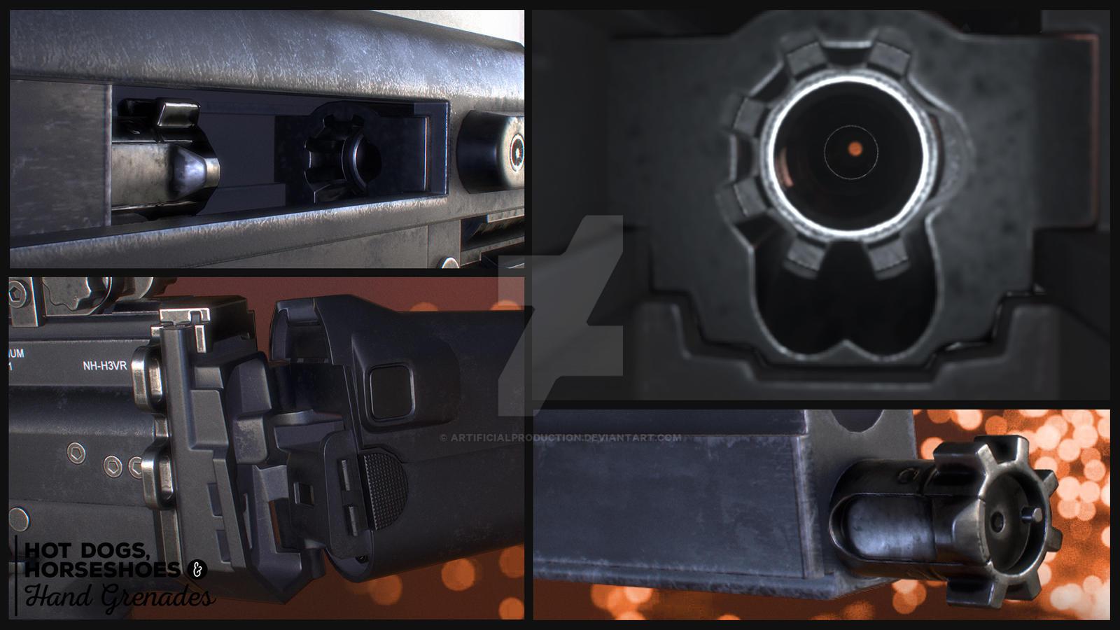 FN Scar mk17 LB detail shots by Artificialproduction