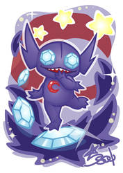 Midnight the Sableye by Star-Soul