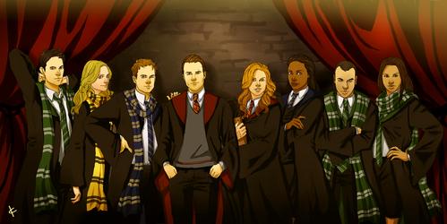 Suits FanArt: Hogwarts by NinaKask