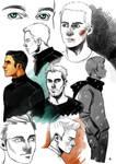 Glee and TeenWolf Fanart: Doodles