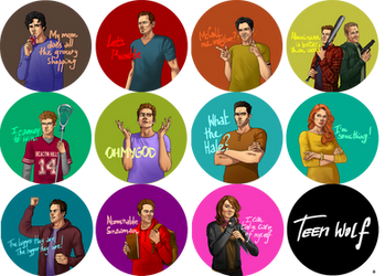 Teen Wolf FanArt: Pins by NinaKask