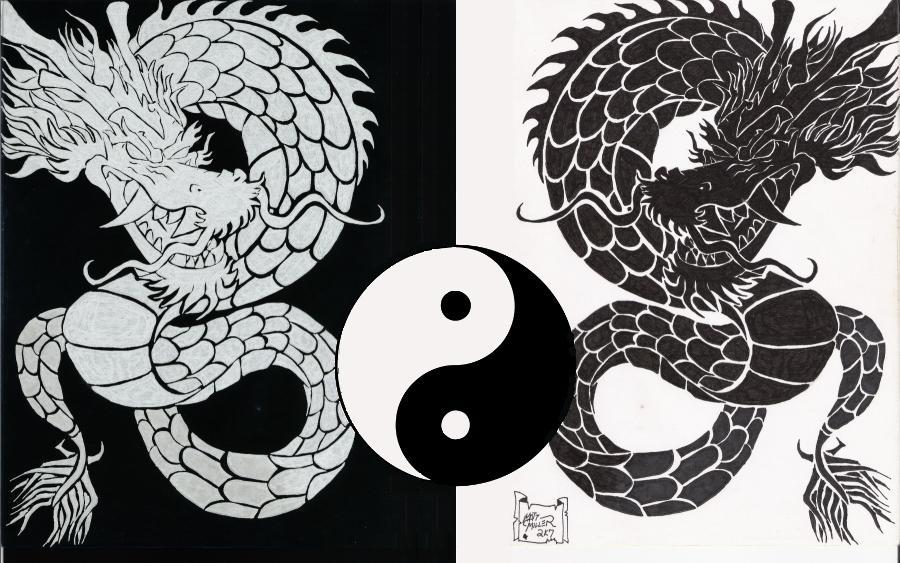 Double Dragon Yin Yang By Silentmatt62285 On Deviantart