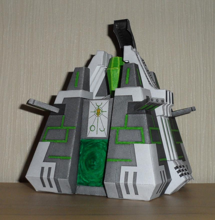 Necron Monolith Papercraft by Vrock8