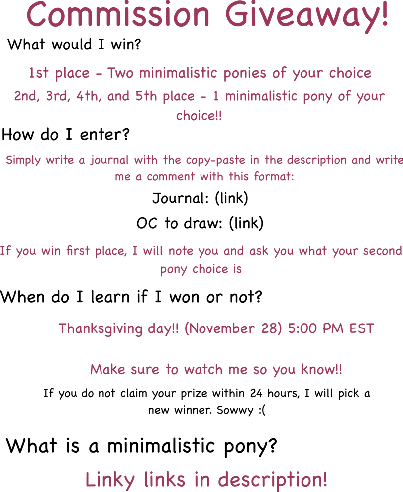 Thanksgiving giveaway!! by TellabArt