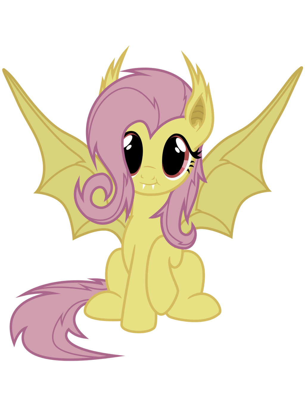 Flutterbat Vector (batpony fluttershy from Bats!) by TellabArt
