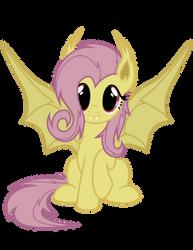 Flutterbat Vector (batpony fluttershy from Bats!) by TellabArt