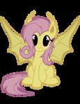 Flutterbat Vector (batpony fluttershy from Bats!)