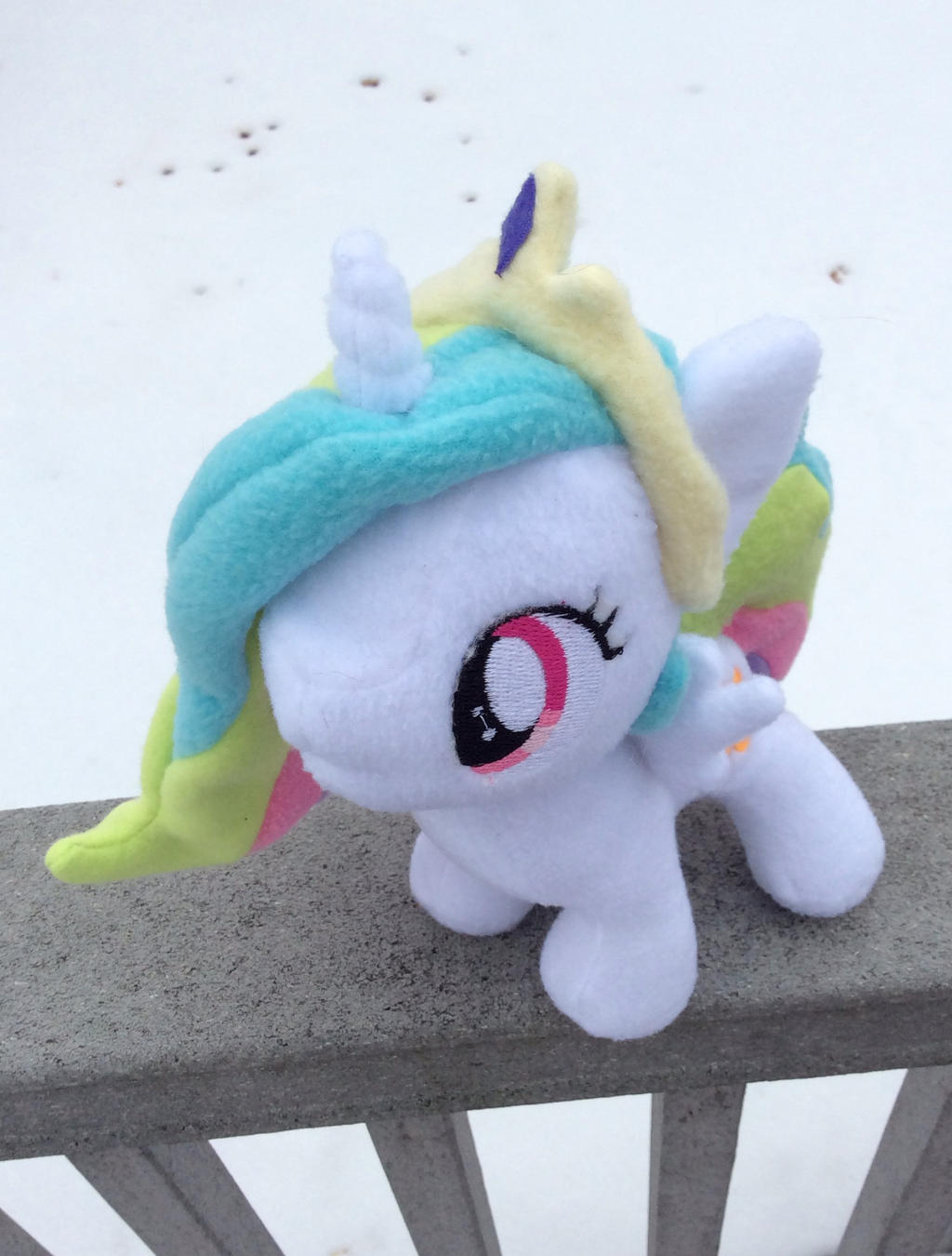 Celestia Filly Plushie by TellabArt