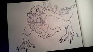 Monster (dark tetra)  by anythingLDA