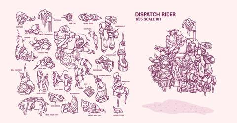 Dispatch rider diorama