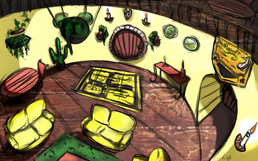 Hufflepuffs\' common room by Ancestralart-de-Lys on DeviantArt