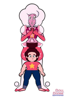 My OC Pink Diamond and Steven by SfCabanas15