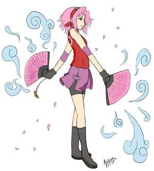 Sakura Rose Fans