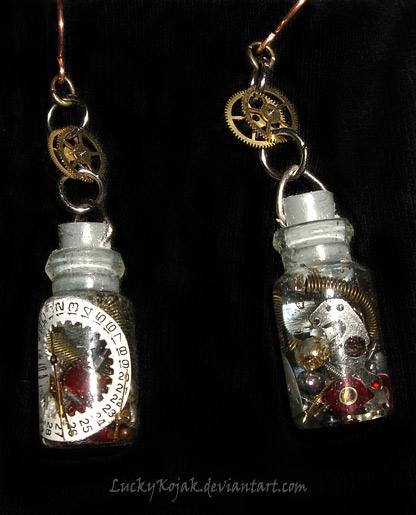 Time in a bottle earrings by LuckyKojak on DeviantArt
