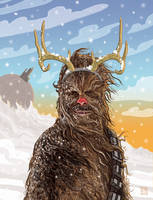 Chewbacca the Red-Nosed Reindeer by McQuade