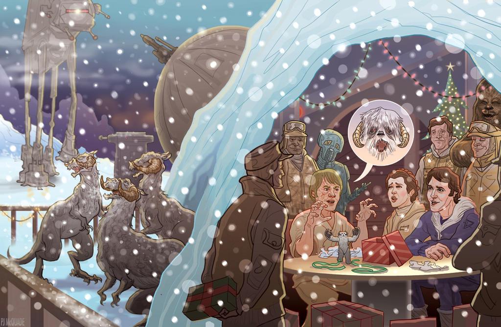 Star Wars Christmas Card Art
