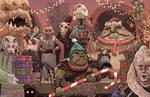 Jabba the Hutt Christmas Card Star Wars