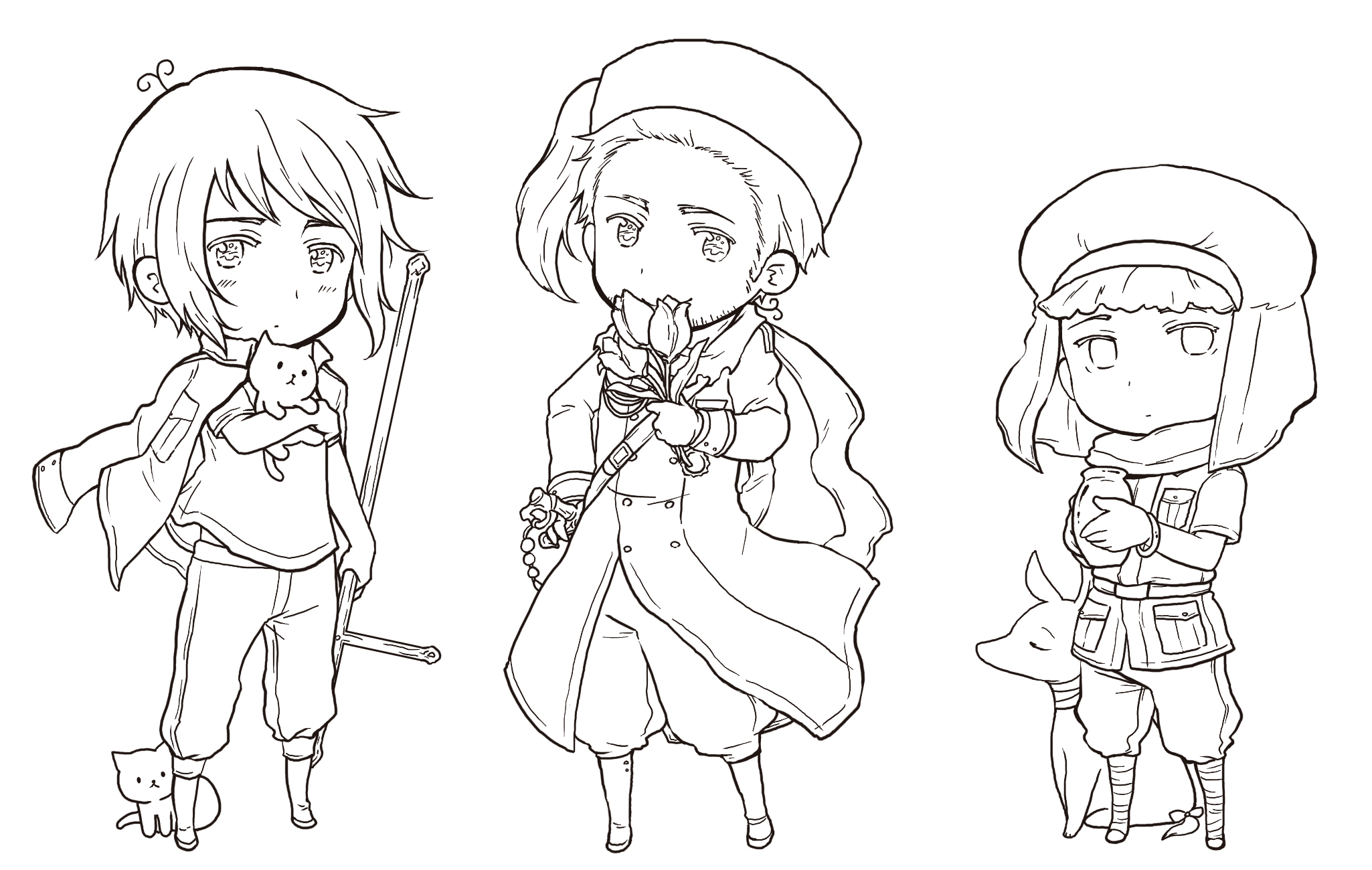 anime hetalia coloring pages - photo#7