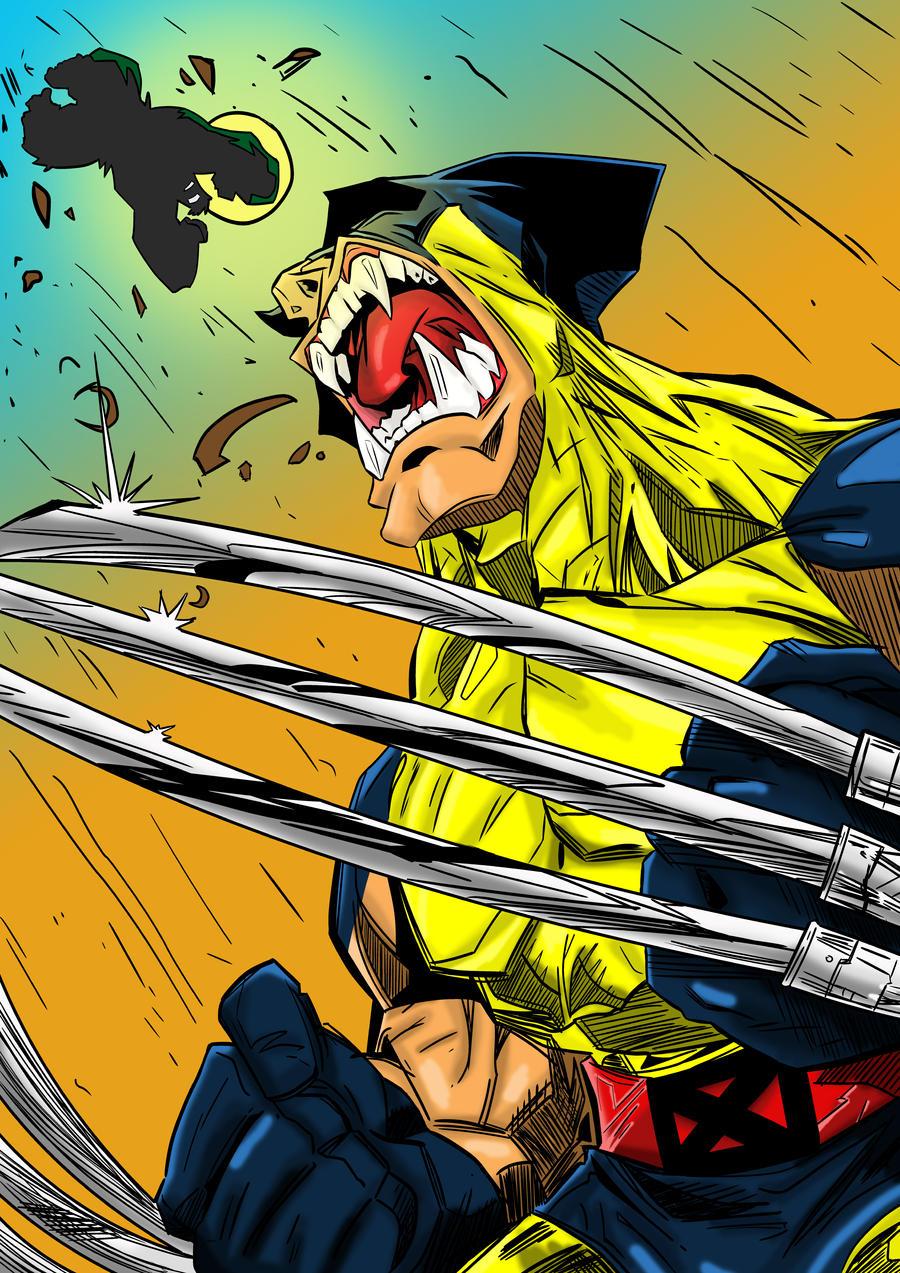 Wolverine Hulk Blaze by LewisTillett