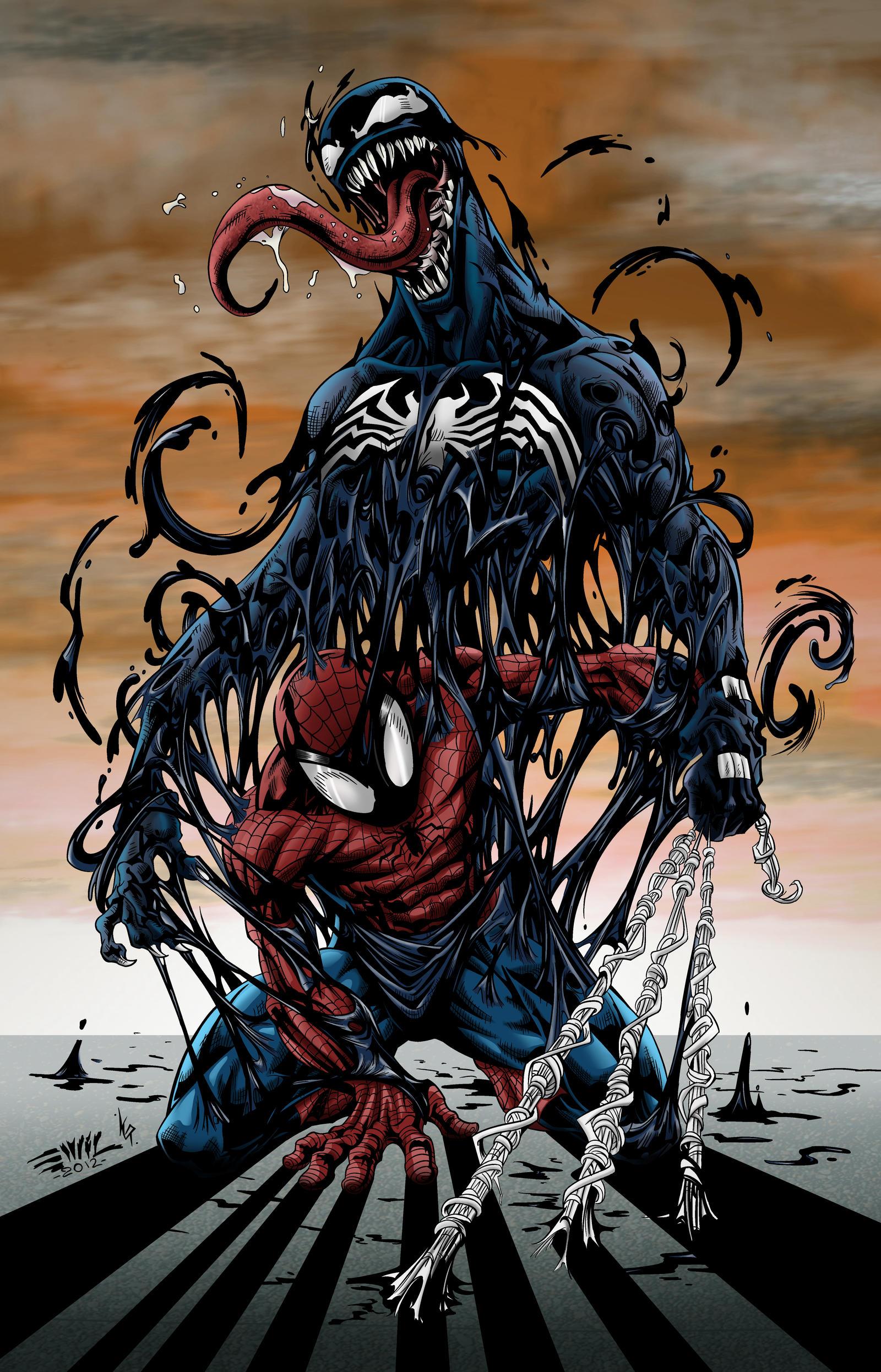 Spider Man Venom by LewisTillett