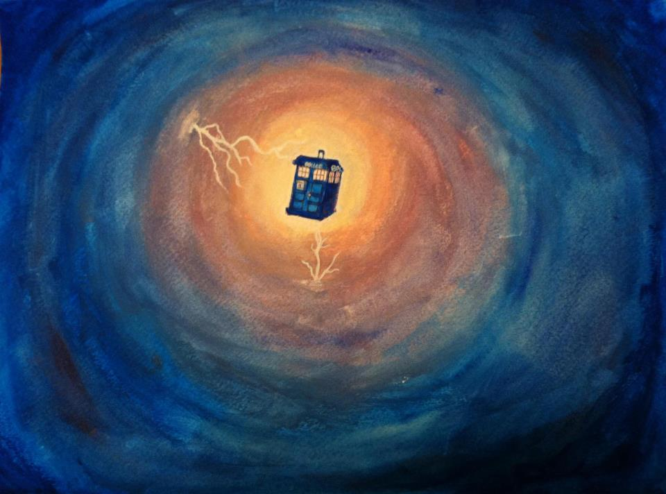 Tardis in a Wormhole by coolspicyrat
