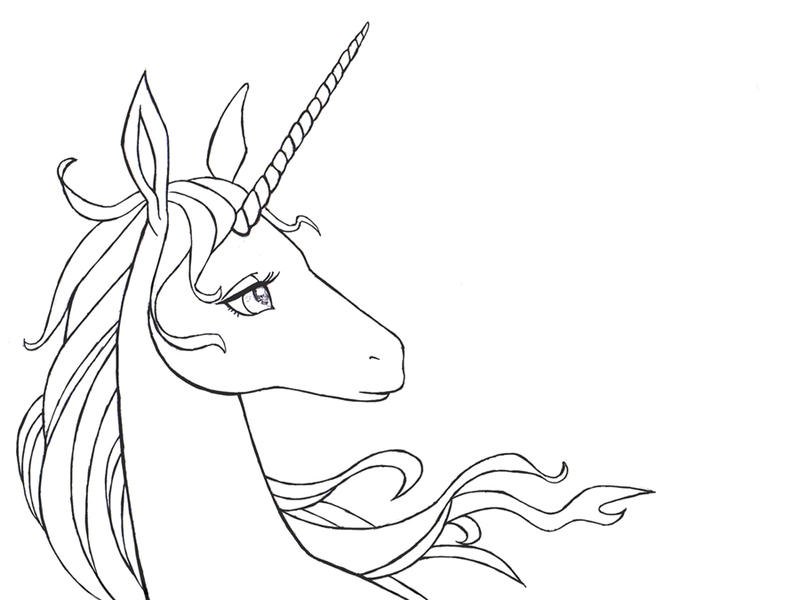 The Last Unicorn Line By 77shaya77 On Deviantart The Last Unicorn Coloring Pages