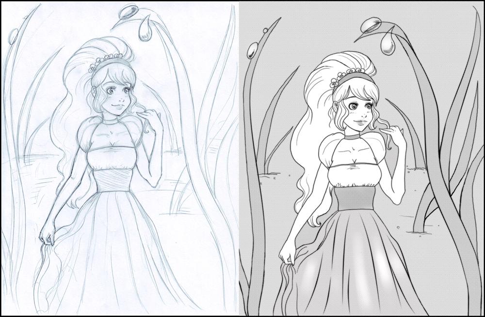 how to draw do thumbelina