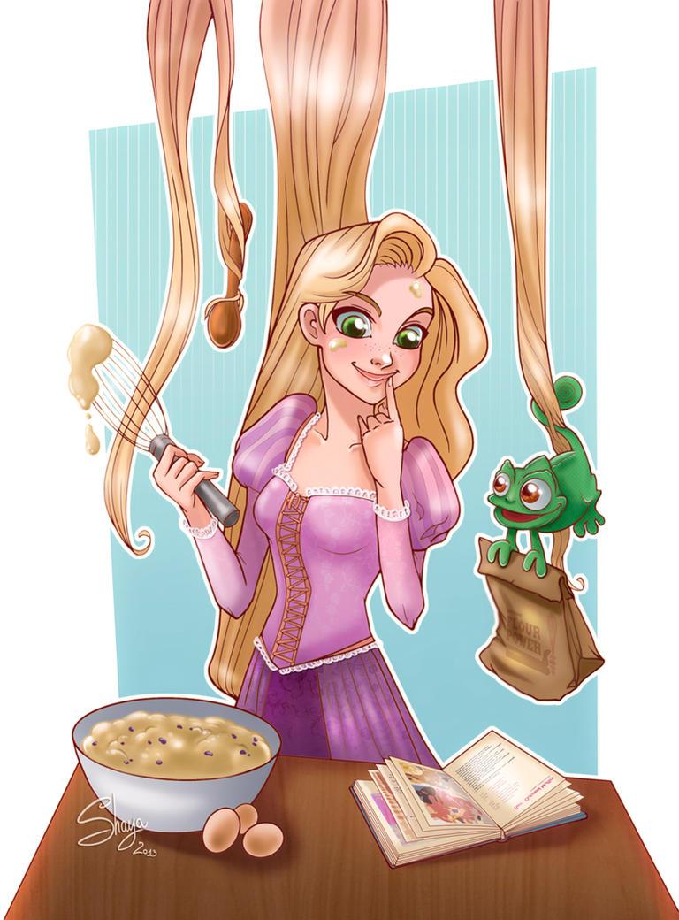 Cooking Rapunzel +Art Trade+ by 77Shaya77