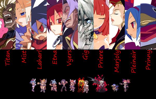 Disgaea 3 Team Wallpaper 3 by legendarymercenary