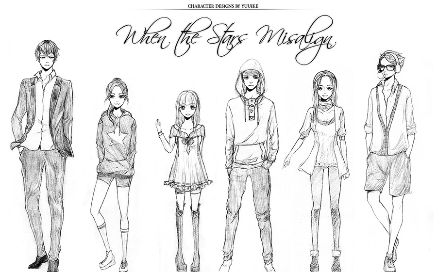 Character Design Group : Initial wtsm character designs by yuuike on deviantart