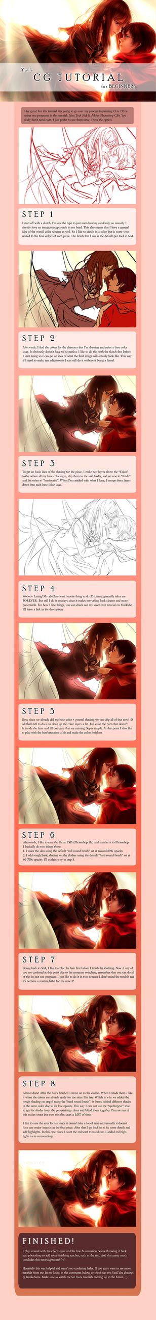 Yuu's CG Tutorial: How I draw/my process by yuuike