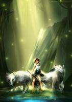 Princess Mononoke [+Speedpaint] by yuuike