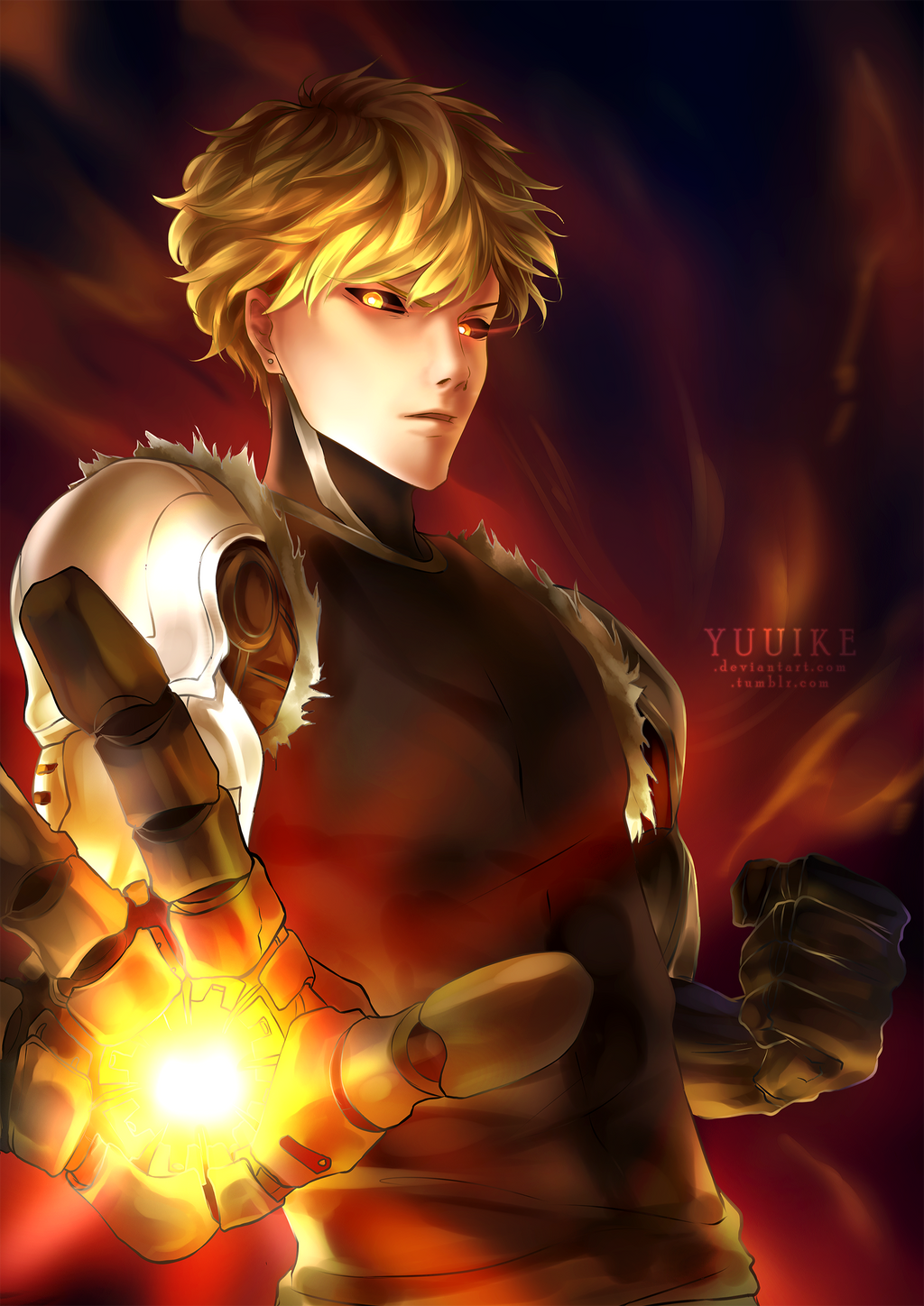 Genos - The Blonde Cyborg [+Speedpaint] by yuuike on ...