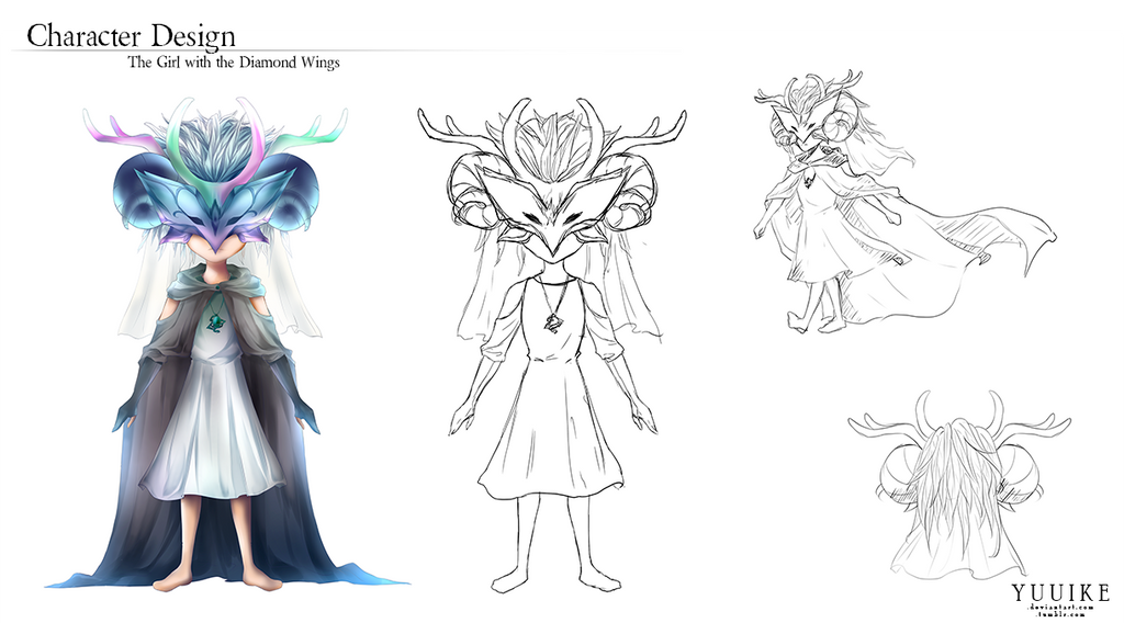 The Girl with the Diamond Wings: Character Design by yuuike