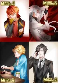 Mystic Messenger sketches compilation