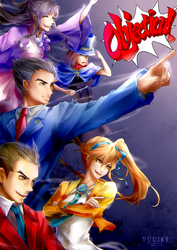 Ace Attorney - OBJECTION!!! [+Speedpaint] by yuuike