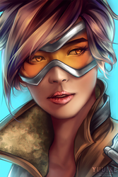 Overwatch - Tracer [+speedpaint] by yuuike