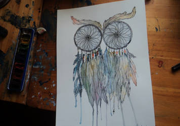 Dreamcatching owl by Andela1998