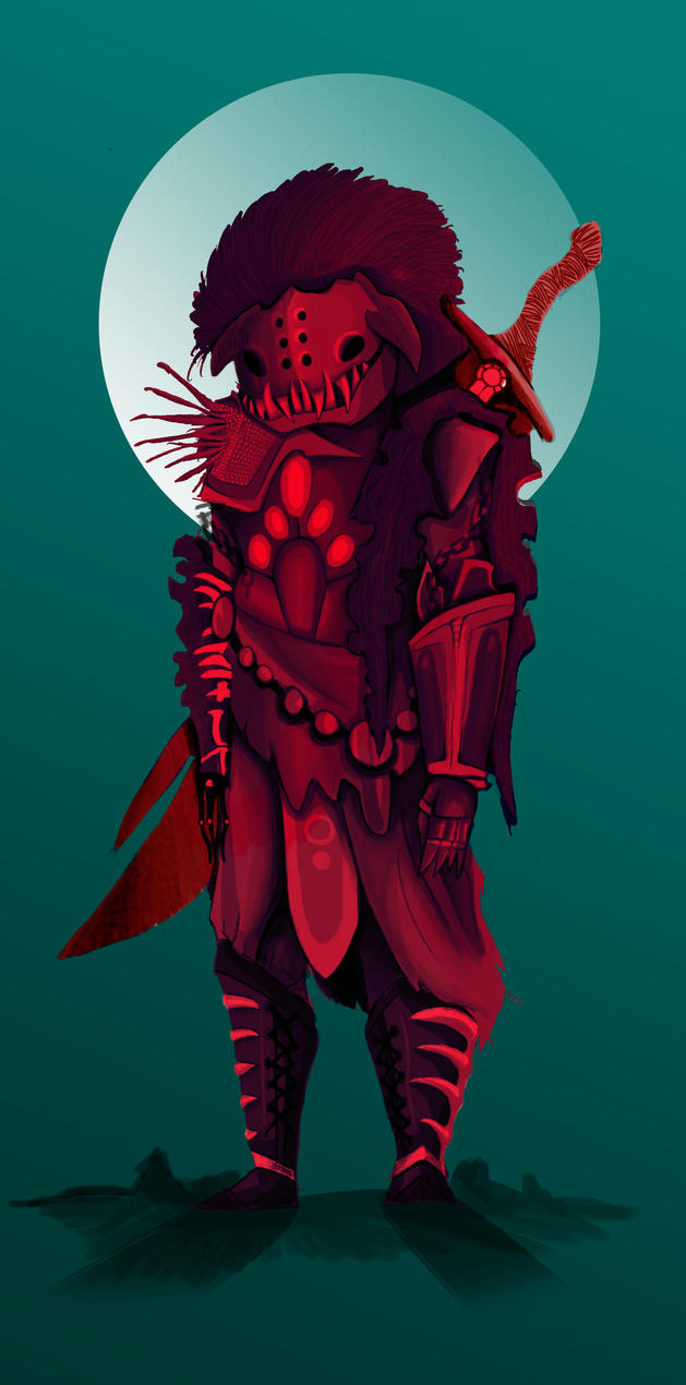 Red Warrior by awesomeandepic