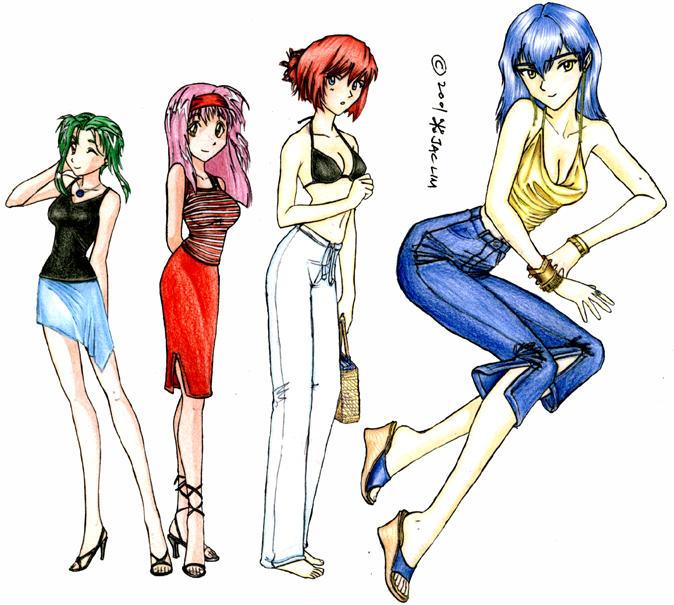Anime Girls by jactinglim