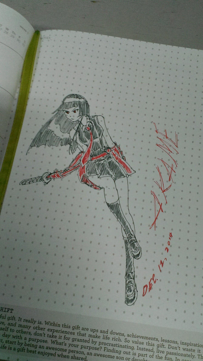Akame ink doodle by jactinglim