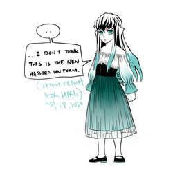 Muichiro in a dress