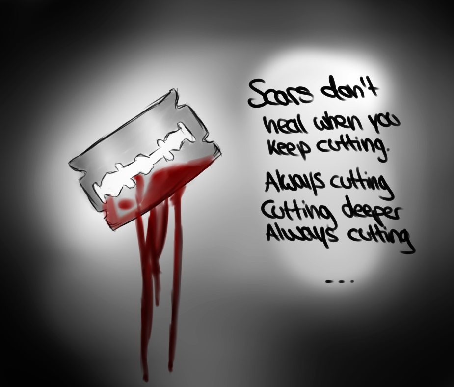 scars don t heal when you keep cutting by lazycat125 on deviantart