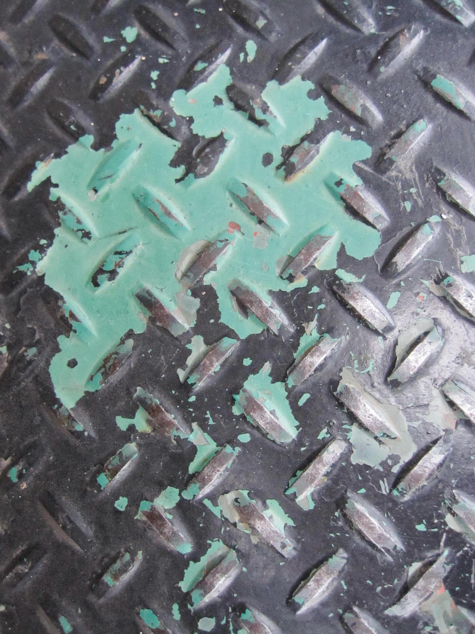 Peeling Paint on Diamond Plate by element321